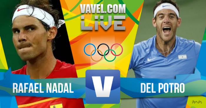 Resultado Nadal x Del Potro pela Semifinal do tênis da Rio 2016 (1-2)