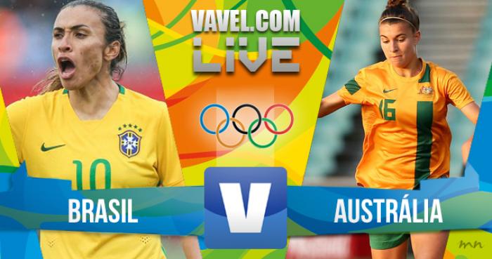 Resultado Brasil (7) 0-0 (6) Austrália nos Jogos Olímpicos