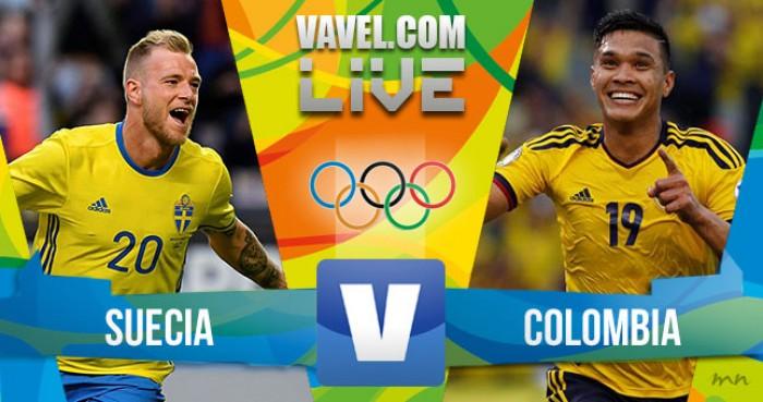 Resultado Suecia vs Colombia en Fútbol Masculino por los Juegos Olímpicos Río 2016 (2-2)