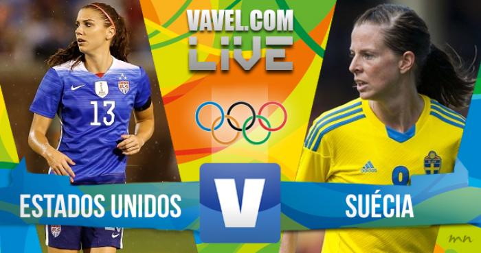 Estados Unidos 1 a 1 Suécia, tempo real futebol feminino nos Jogos Olímpicos (3 a 4)