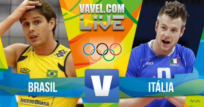 Resultado Brasil x Itália no vôlei masculino dos Jogos Olímpicos (1 a 3)