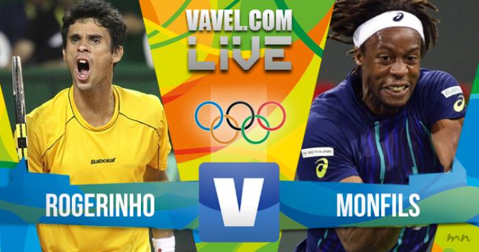 Jogo Rogério Dutra Silva x Gael Monfilsna Olimpíada Rio 2016 (0-0)