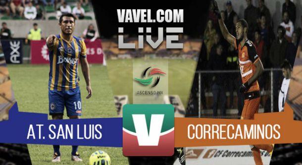Resultado San Luis - Correcaminos en Ascenso MX 2015 (2-0)
