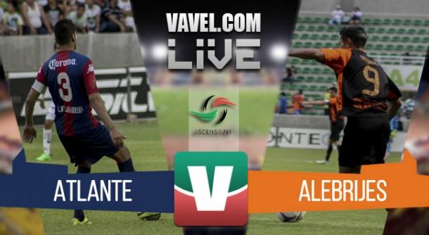 Resultado Atlante - Alebrijes de Oaxaca en Ascenso MX 2015 (0-2)