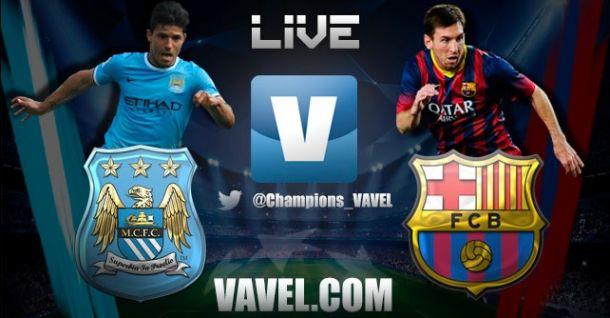 Diretta Manchester City - Barcellona, live della partita di Champions League