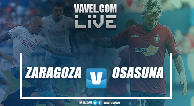 Resumen Zaragoza vs Osasuna en Segunda División 2018 (1-1)