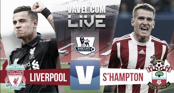 Score Liverpool - Southampton in EPL 2015 (1-1)