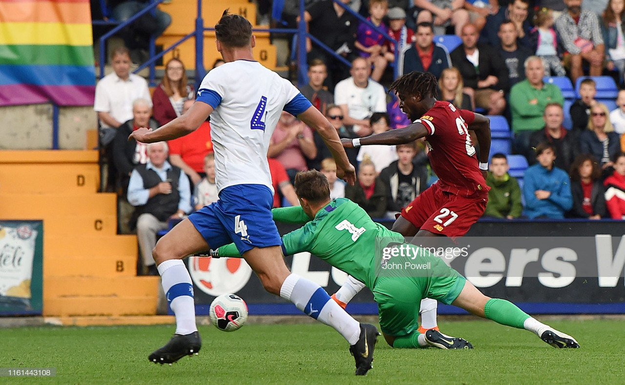 Tranmere 0-6 Liverpool: Reds start pre-season with emphatic win