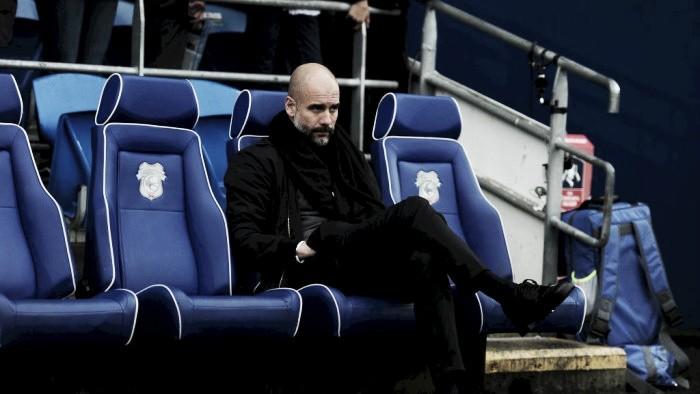 """Guardiola critica arbitragem após vitória na Copa da Inglaterra: """"Não dá para entender"""""""