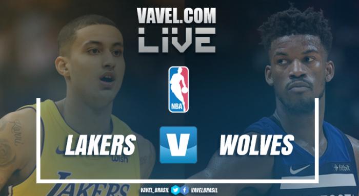 Jogo Los Angeles Lakers x Minnesota Timberwolves ao vivo online na NBA 2017/18