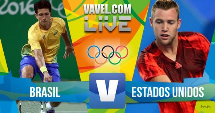 Teliana e Melo perdem paraSock e Mattek-Sands no tênis de DuplasMistas dos Jogos Olímpicos (0-2)