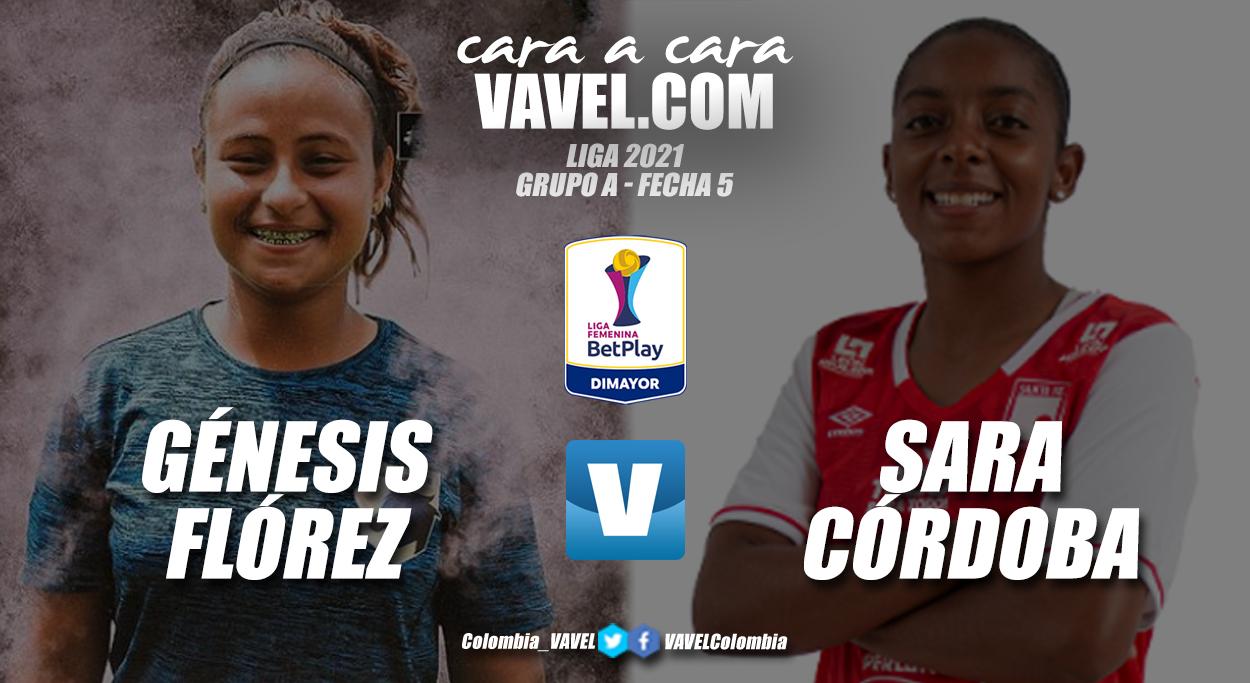 Cara a cara: Génesis Flórez vs Sara Córdoba