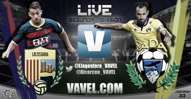 Resultado UE Llagostera - AD Alcorcón en la jornada 33 de la Liga Adelante (0-0)