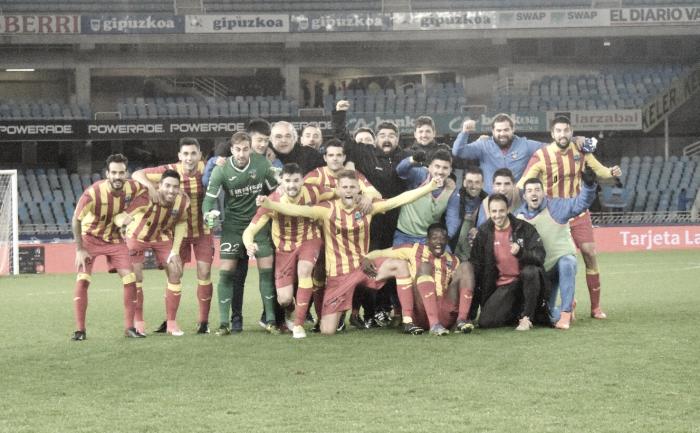 El Lleida hace historia en Anoeta