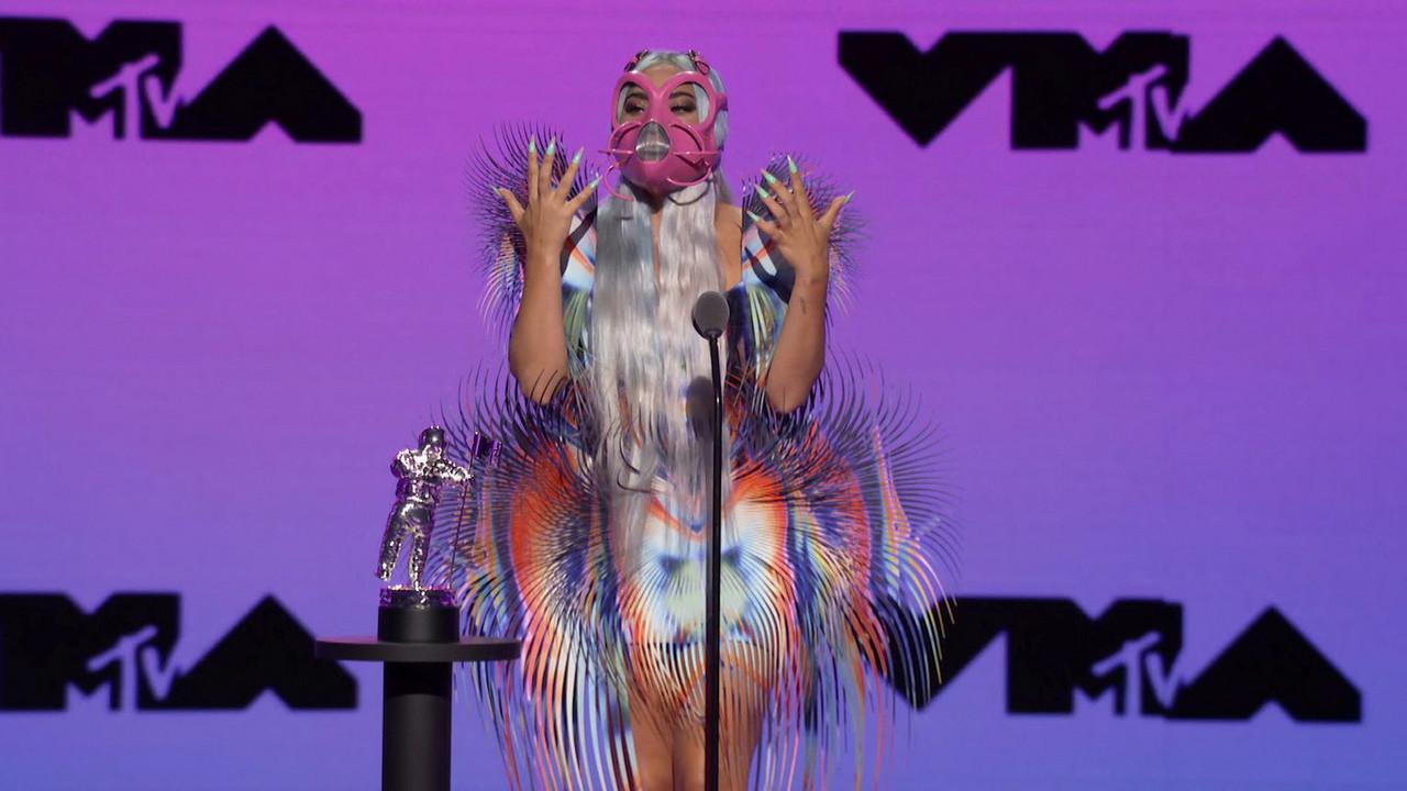 Lady Gaga triunfó con sus mascarillas en los MTV VMAs 2020