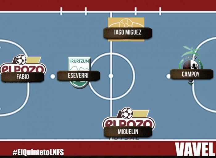 Quinteto ideal de la octava jornada de la Liga Nacional de Fútbol Sala