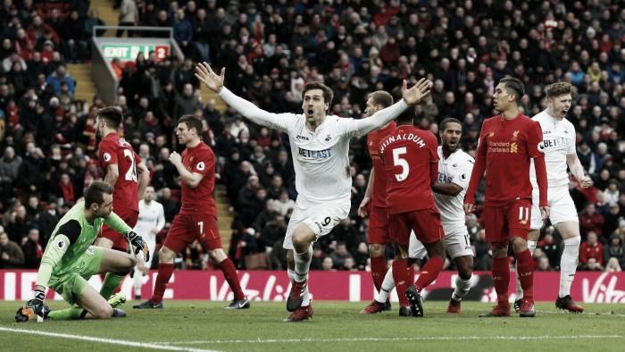 Premier League, impresa Swansea: Liverpool battuto 3-2