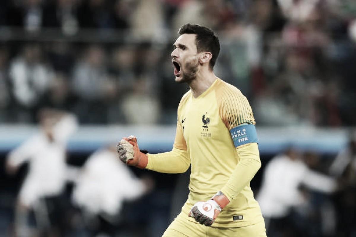 """Destaque contra Bélgica, Lloris celebra vaga da França na final: """"Só resta uma etapa"""""""
