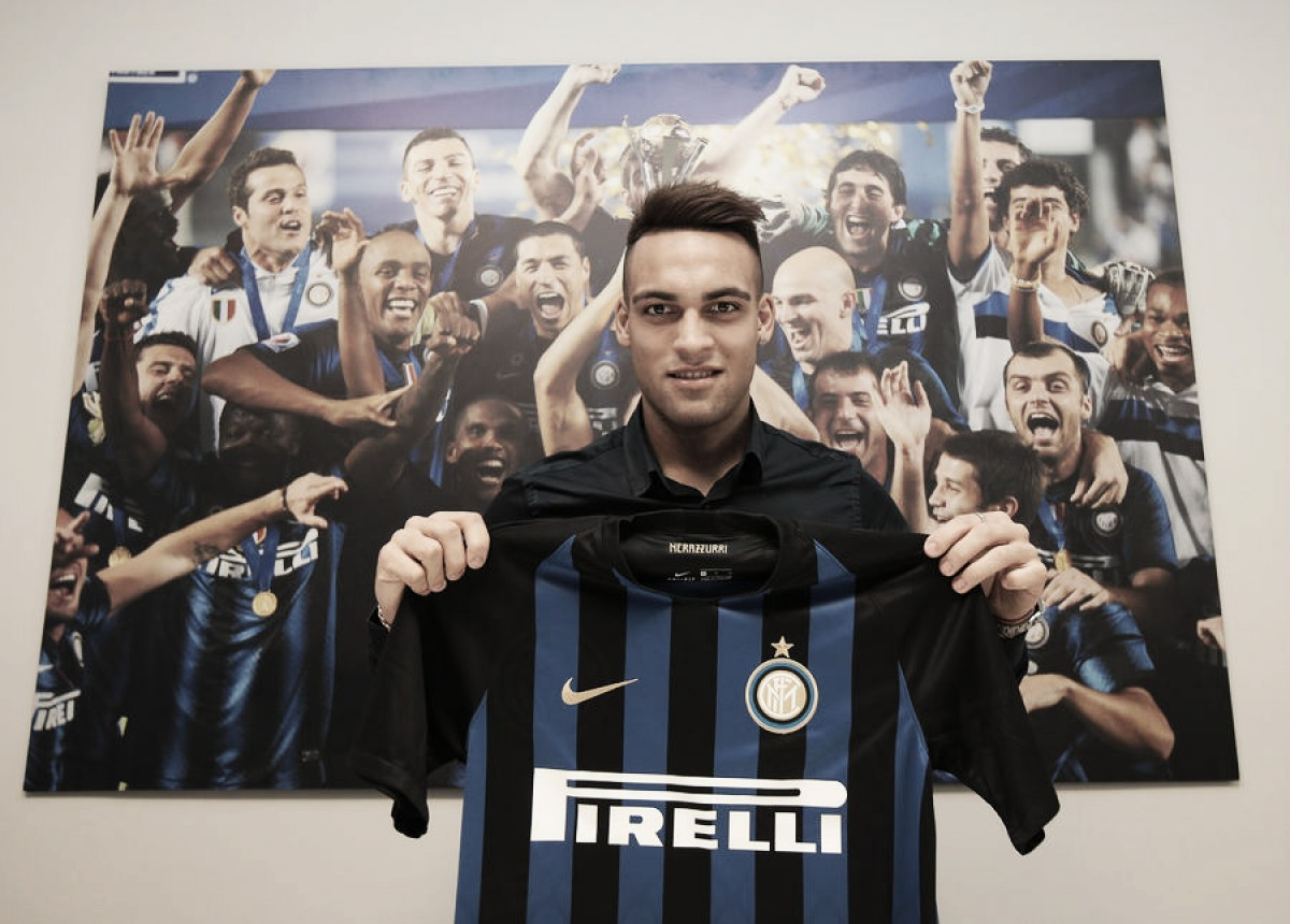 Lautaro Martínez é anunciado como novo reforço da Inter