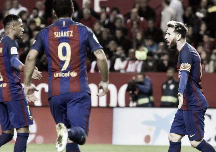 Liga, Messi incanta contro un Siviglia da applausi