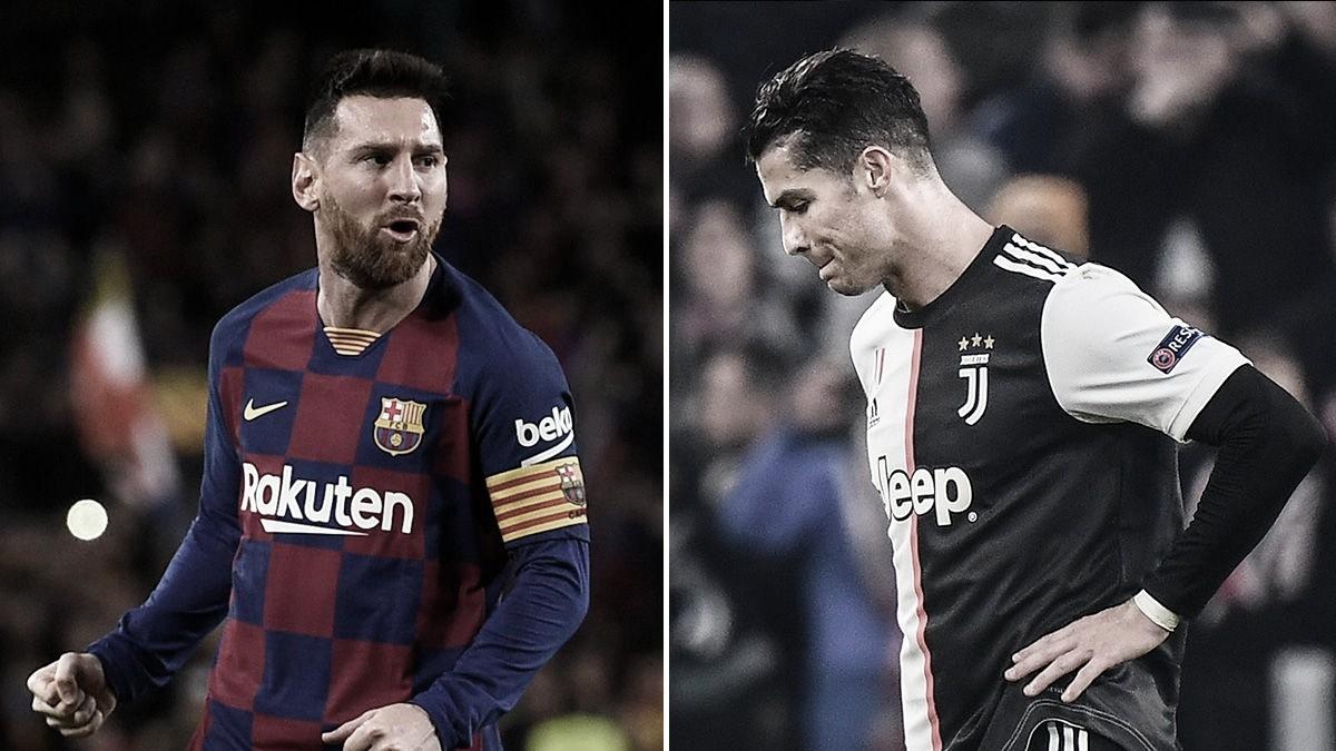 Pela primeira vez desde 2004-05, Messi e Cristiano Ronaldo ficam fora das semifinais de Champions