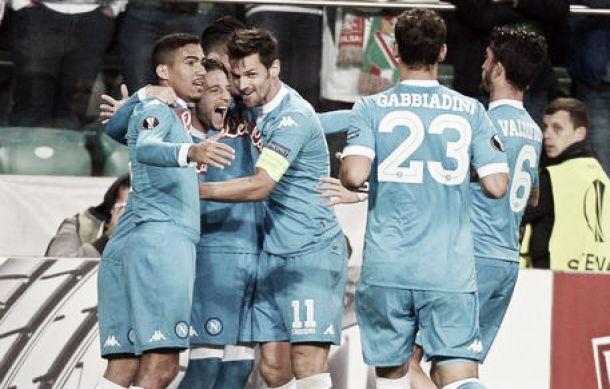 Mertens di testa, Higuain di classe. Il Napoli batte il Legia Varsavia: le pagelle azzurre