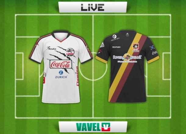Resultado Lobos BUAP - Coras en Ascenso MX 2014 (2-2)