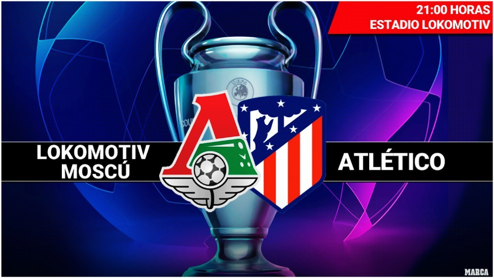 Lokomotiv Moscú vs Atlético de Madrid en vivo y en directo online Champions League