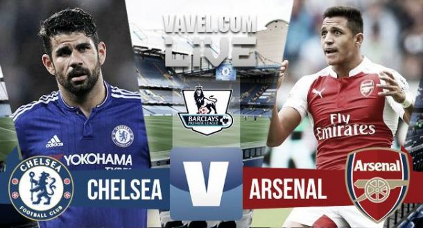 Result Chelsea vs Arsenal in EPL 2015 (2-0)