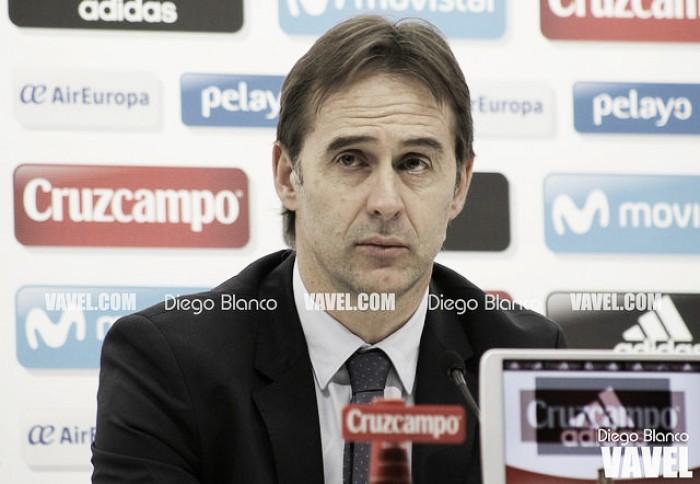 """Julen Lopetegui: """"Es muy difícil cerrar una lista de la Selección"""""""