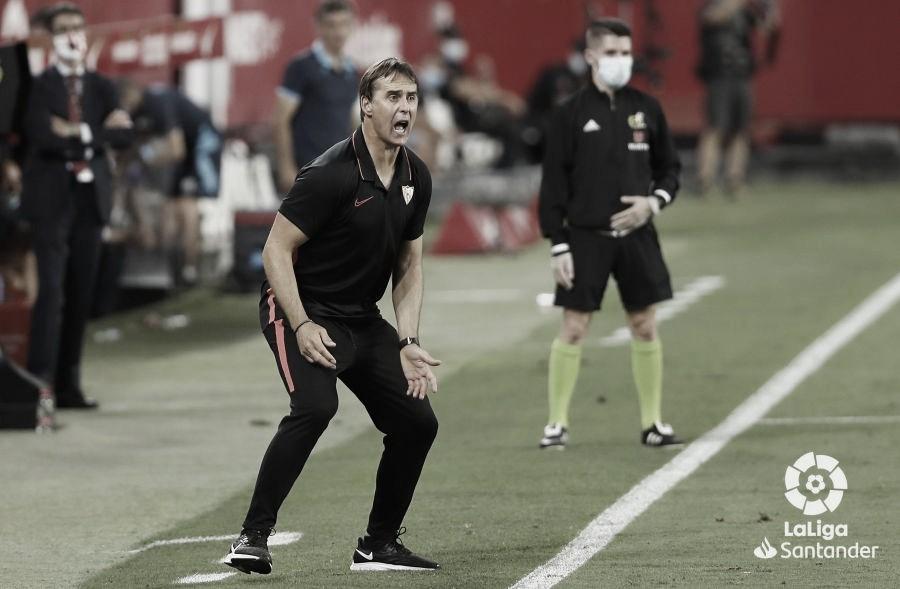 """Lopetegui respira aliviado após vitória apertada do Sevilla contra Eibar: """"Cada jogo será uma batalha"""""""