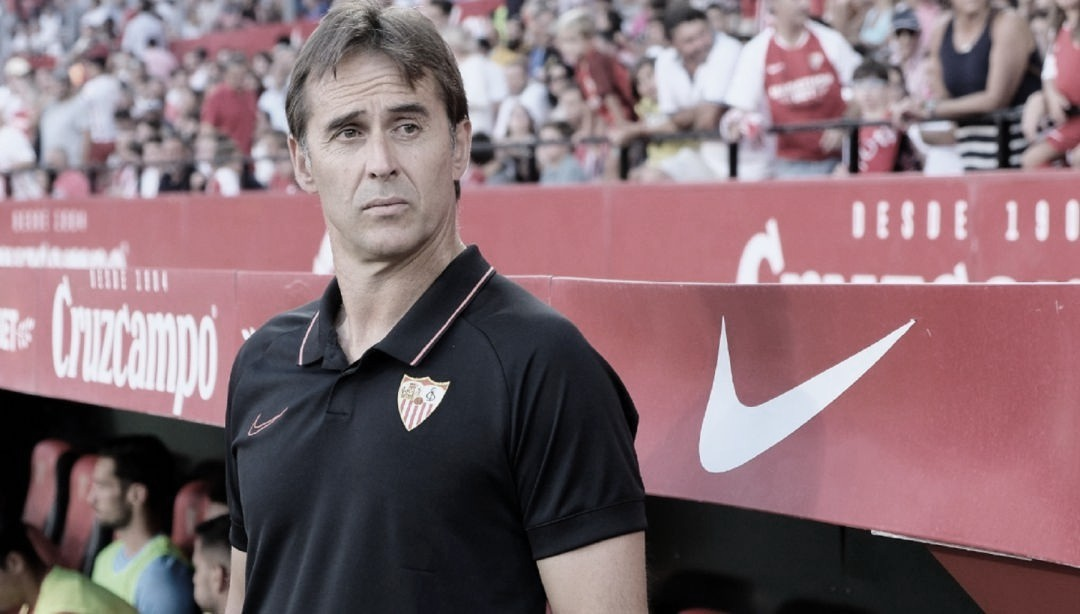"""Julen Lopetegui: """"Nosotros afrontamos cada partido con la máxima ambición de ganar""""."""