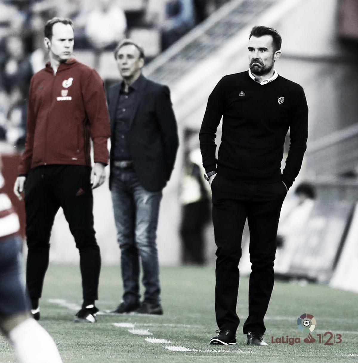 "López Garai: ""En Tarragona yo creo que al descanso tenemos que ir ganando"""