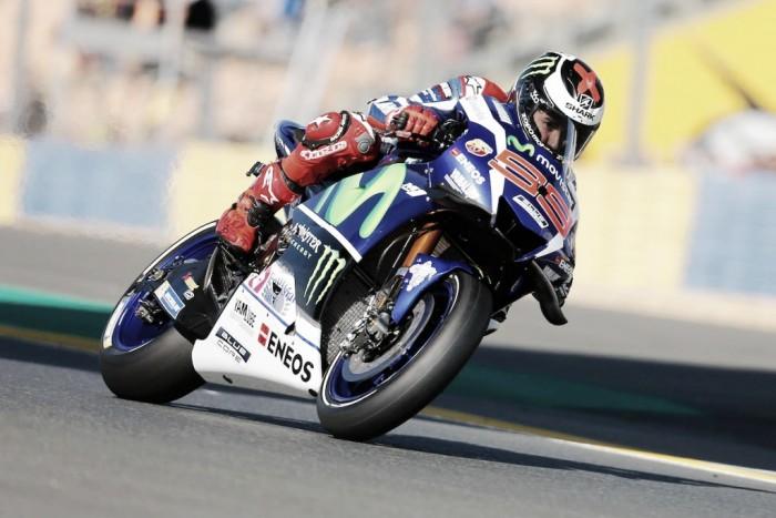 Dramatic crash filled MotoGP qualifying as Lorenzo claims record breaking pole