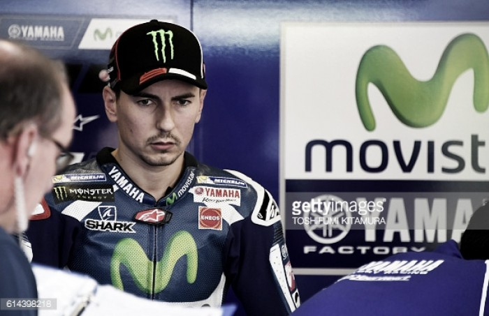 Lorenzo ends a crash filled day one of practice in Motegi on top with record breaking pace