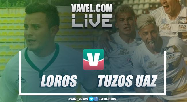 Loros de Colima vs Tuzos UAZ en vivo online en Gran Final Liga Premier MX 2019 (0-0)