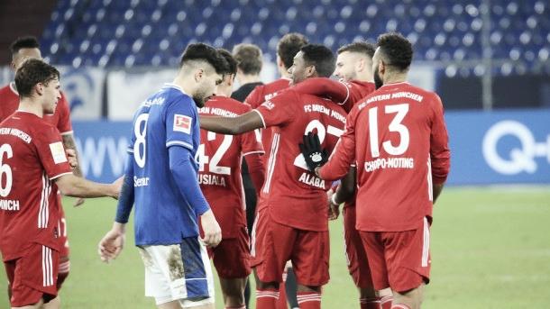 Los jugadores del Bayern celebrando tras la victoria / Foto: fcbayern.com