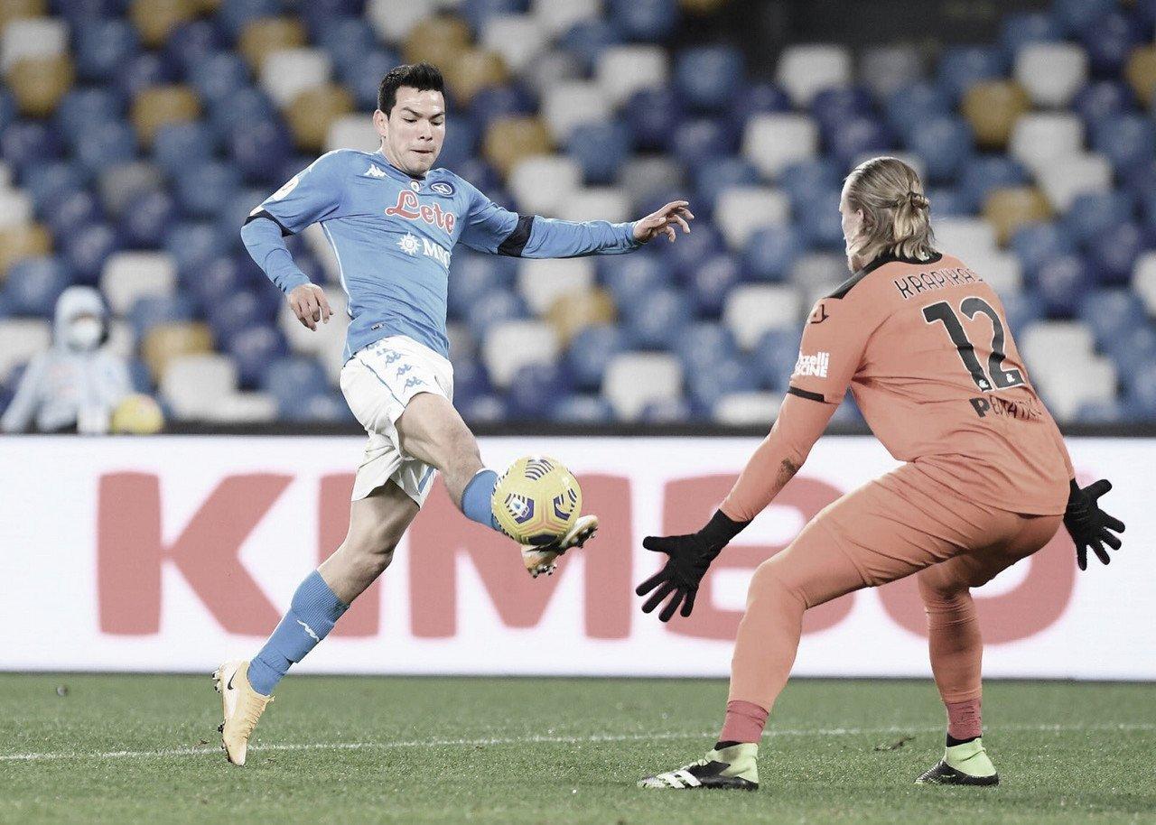 Napoli decide no primeiro tempo contra Spezia e avança às semifinais da Coppa Itália