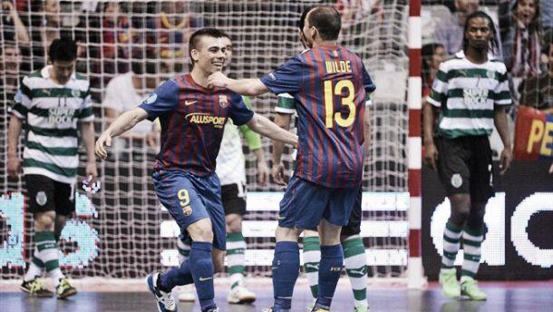 Resultado FC Barcelona vs Sporting Clube de Portugal en la UEFA Futsal Cup 2015 (5-3)