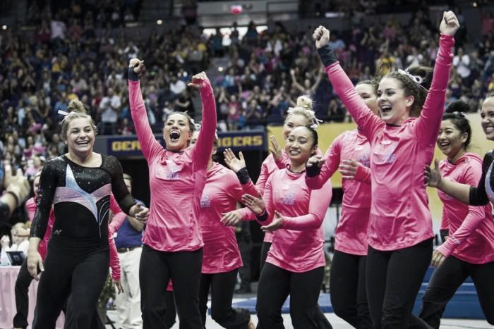 NCAA Gymnastics: LSU decimates Texas Woman's behind Olympian Ruby Harrold