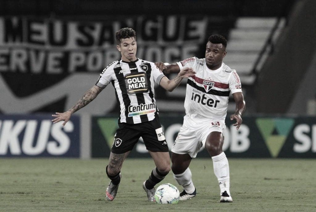 São Paulo dá vexame no Nilton Santos e perde para o rebaixado Botafogo