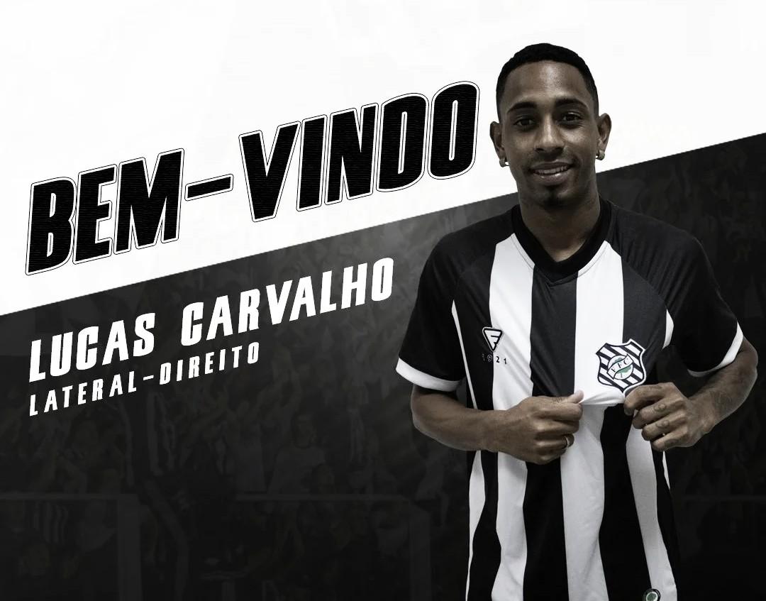 Figueirense anuncia contratação do lateral Lucas Carvalho, ex-São Luiz