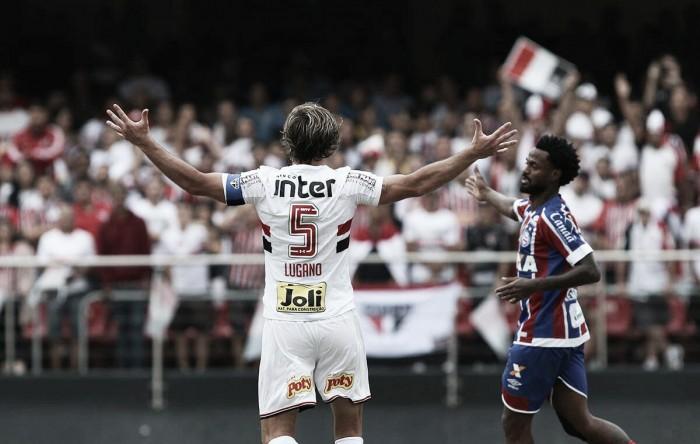 Na despedida de Lugano, São Paulo e Bahia encerram temporada com empate