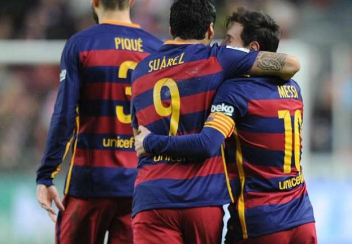 Liga, il Barcellona va in fuga: 1-3 con lo Sporting Gjion