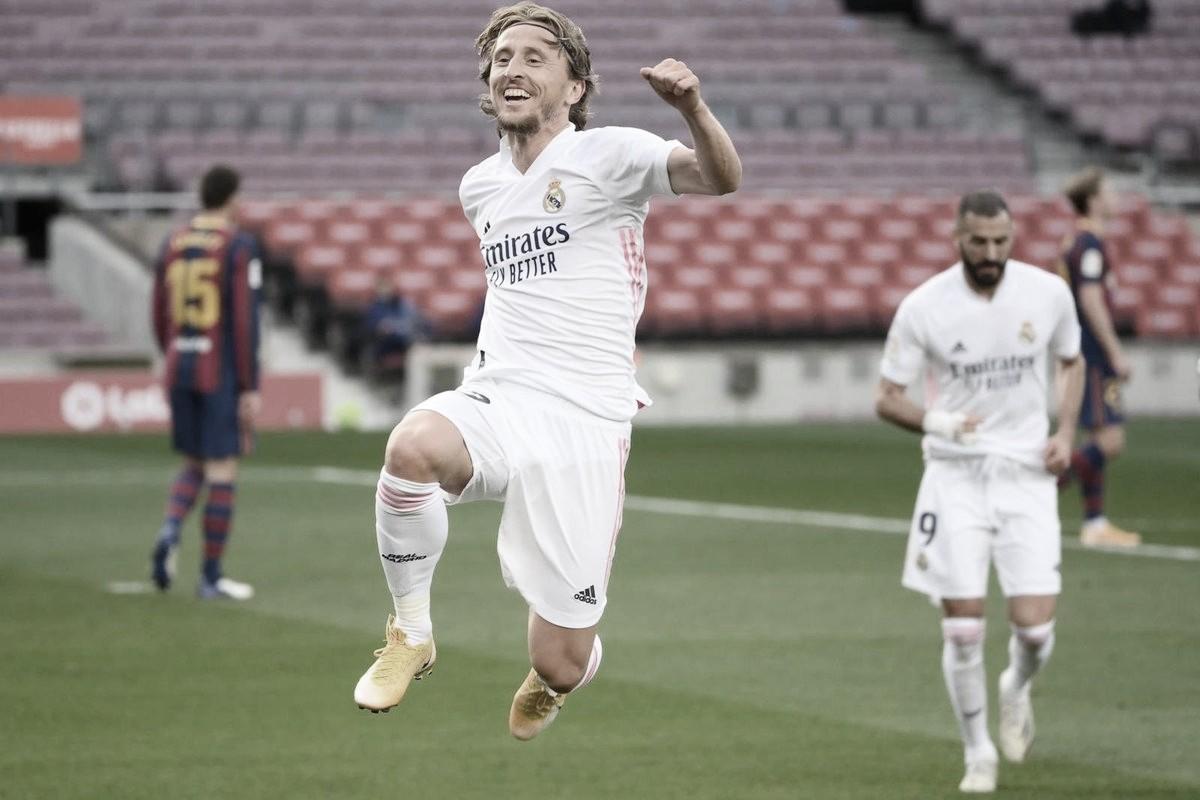 Luka Modric juega su partido 250 en Liga con el Real Madrid