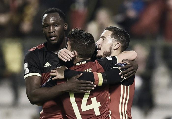 Bélgica controla, vence Bósnia e assegura liderança do Grupo H das Eliminatórias Europeias