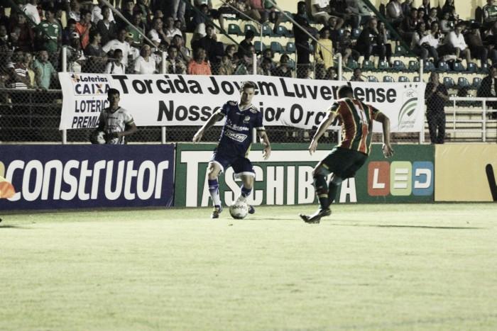 Luverdense para em Rodrigo Ramos e fica no zero com lanterna Sampaio Corrêa