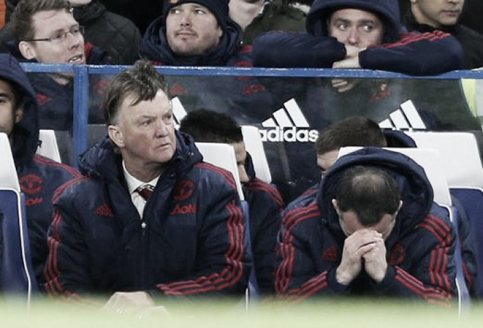 Louis van Gaal unhappy to fall further behind in top four race