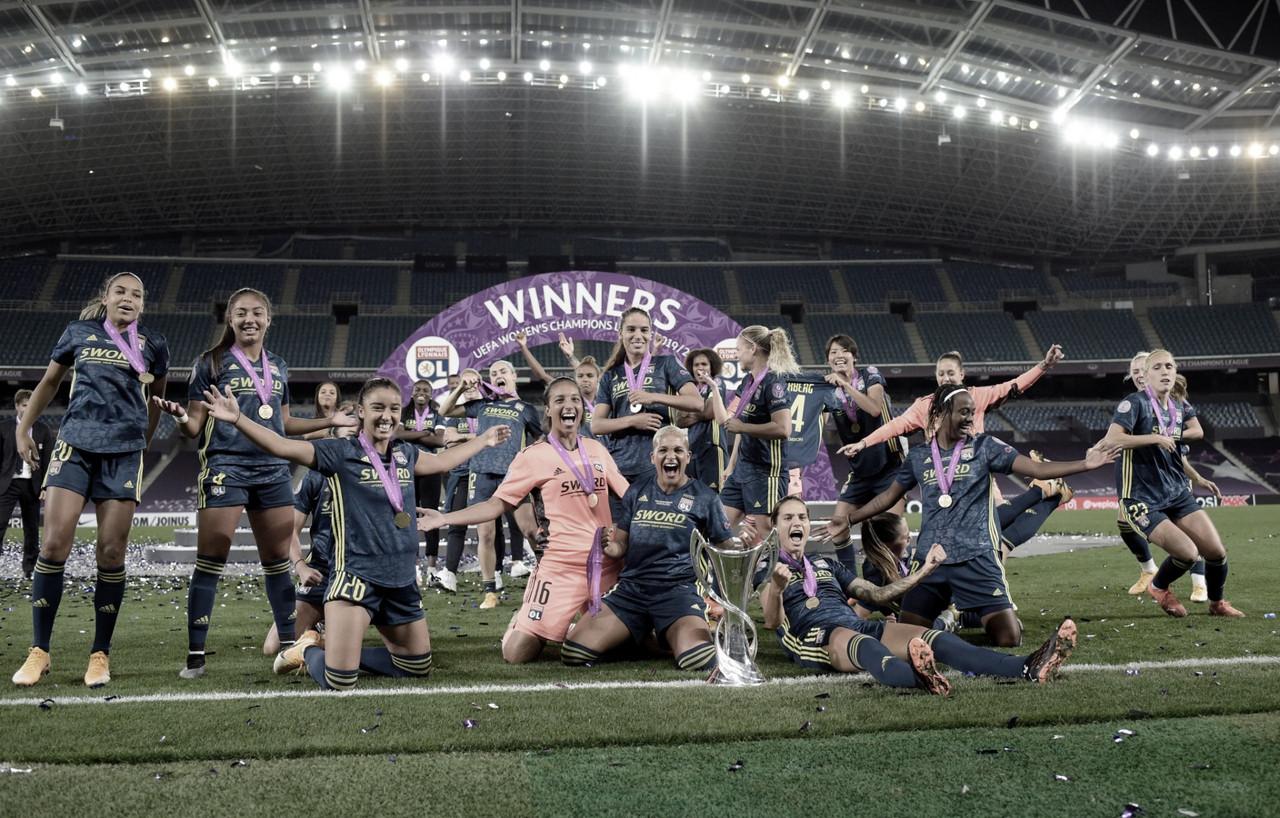 """Jogadoras do Lyon vibram com mais um título da Champions League Feminina: """"Orgulhosas do que conseguimos"""""""