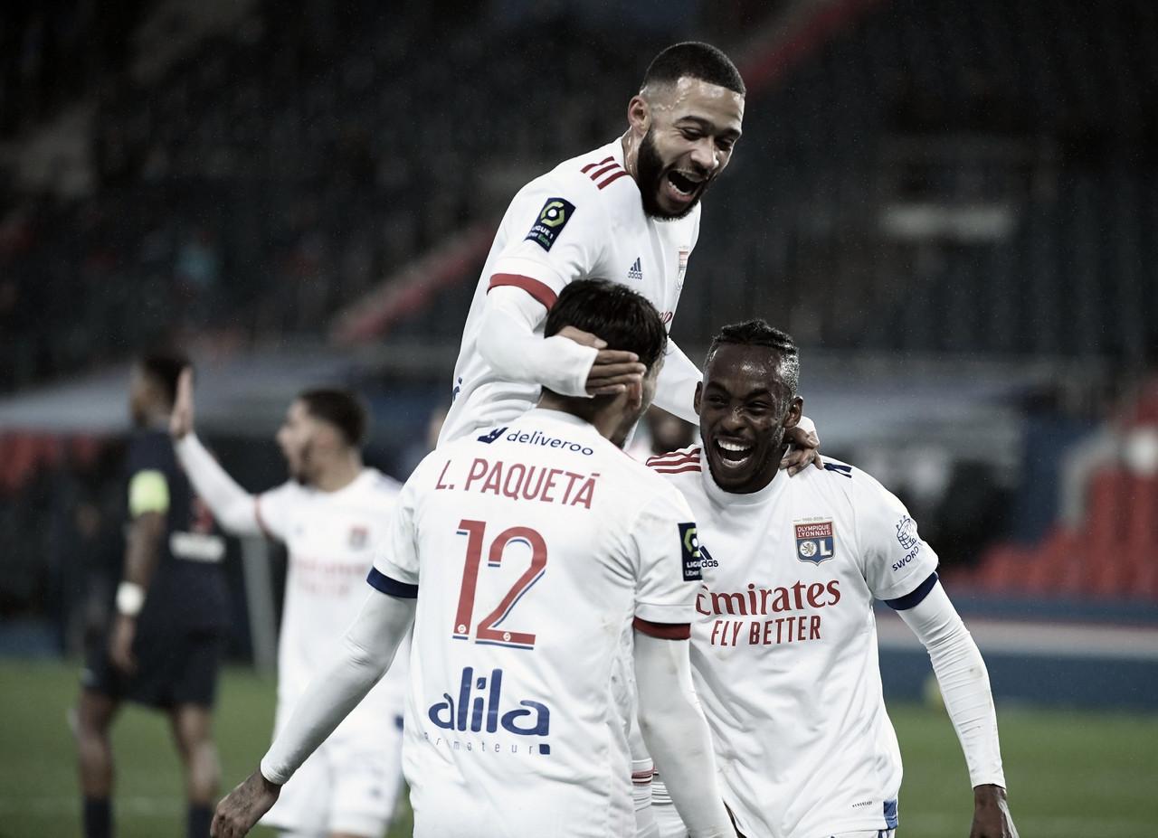 Lyon vence clássico diante do PSG e assume vice-liderança da Ligue 1